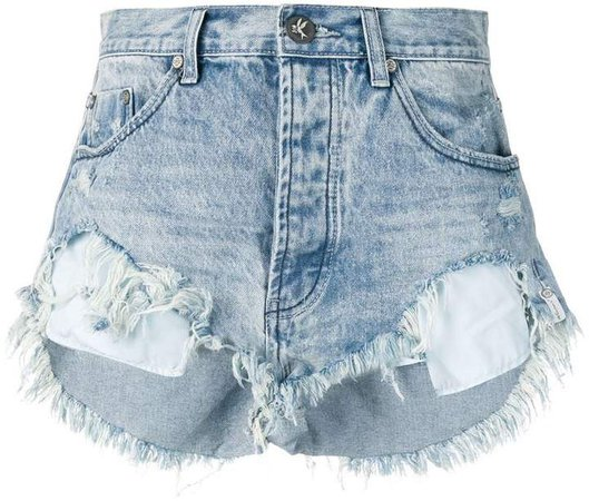 Salty Dog distressed denim shorts
