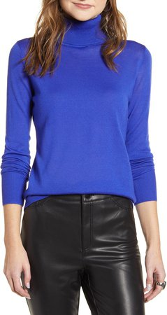 Turtleneck Merino Wool Blend Sweater