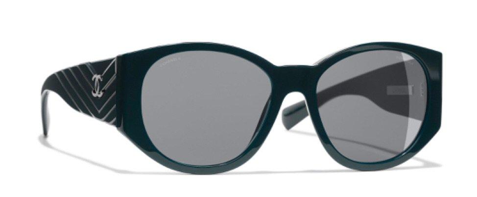 Chanel Dark Green Sunglasses