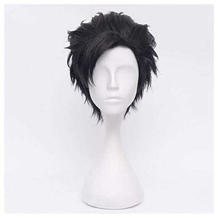 Amazon.com: COSPLAZA Short Black Men's Cosplay Wig Anime Heat Resistant Full Hair: Beauty