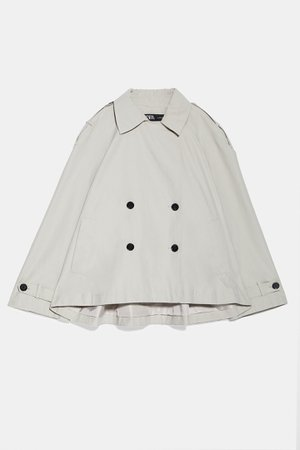 BUTTON CROPPED TRENCH COAT | ZARA United States