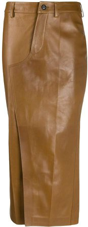 Lambskin Leather Pencil Skirt