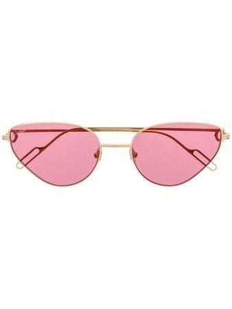 Cartier triangle-shaped sunglasses