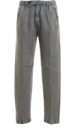Cotton and Linen Cargo Pants
