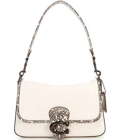 COACH Soft Calf Leather Snake Tabby Shoulder Bag   Dillard's