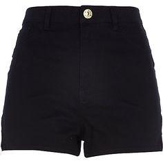 Black high waisted Nori denim shorts $50.00