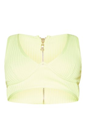 Lime Bandage Underwire Crop Top | PrettyLittleThing USA