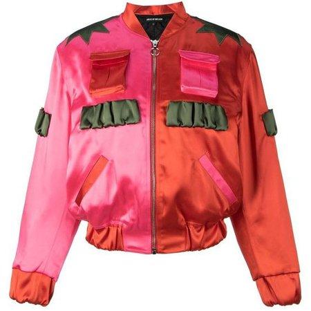 House Of Holland Two-Tone Bomber Jacket