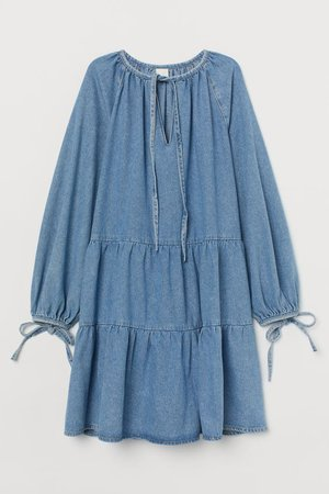 Denim Dress - Light denim blue - Ladies | H&M US