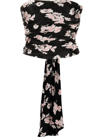 Shop multicolour Cinq A Sept floral-print strapless top with Express Delivery - Farfetch