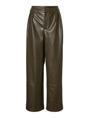 Serena coated straight pants | GREY
