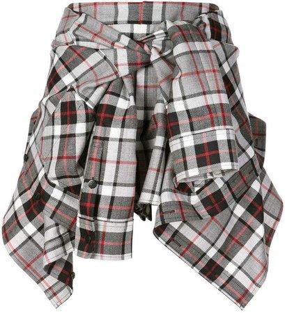wrapped around shirt skirt