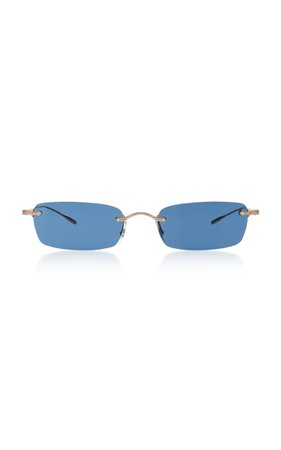 Oliver Peoples Daveigh Square-Frame Metal Sunglasses