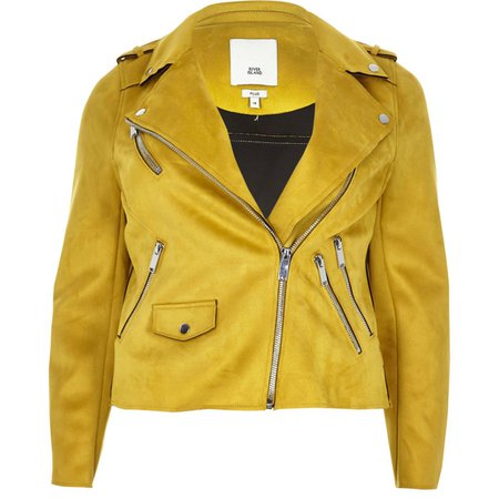 Plus yellow biker jacket - Jackets - Coats & Jackets - women