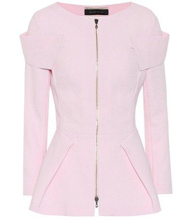 Fosse wool crêpe jacket