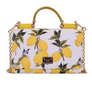 D&G Lemon Printed Mini Sicily Phone Bag