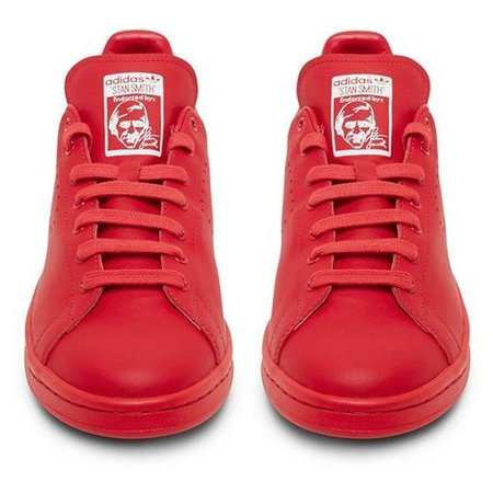 Raf Simons X Adidas Originals Stan Smith Red Low Top Sneaker