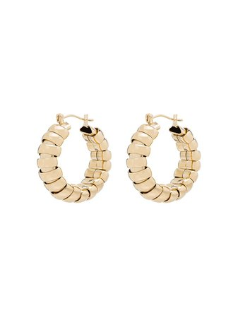 Shop gold Laura Lombardi 14kt gold-plated Camilla hoop earrings with Express Delivery - Farfetch