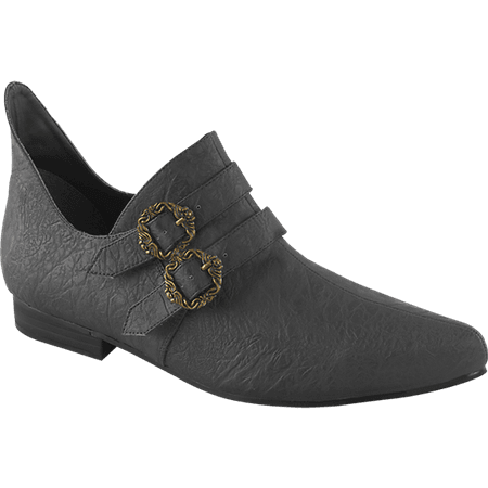 Mens Double Buckle Pointed Renaissance Shoe - FW2191 by Medieval Collectibles