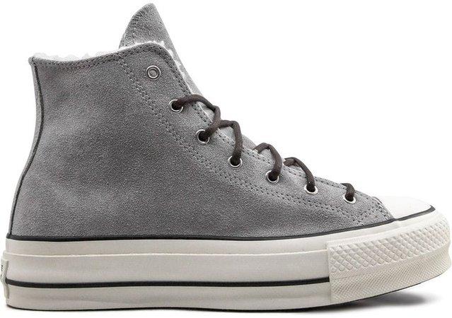 Platform High-Top Sneakers