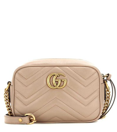 Gucci - GG Marmont Mini matelassé leather crossbody bag | mytheresa.com