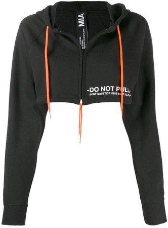 Mia-Iam cropped drawstring hoodie