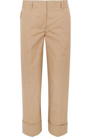 Prada | Cropped cotton straight-leg pants | NET-A-PORTER.COM