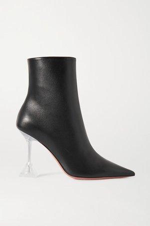 Giorgia Leather Ankle Boots - Black