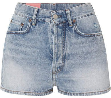 Ren Distressed Denim Shorts - Light denim