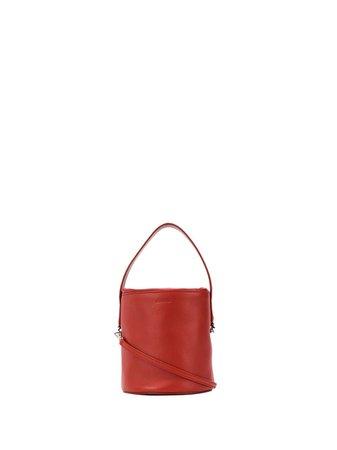 Jil Sander Drawstring Bucket Bag JSPQ850337WQB70018N Red | Farfetch