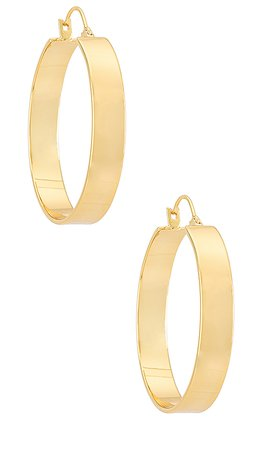 gorjana Jax Hoops in Gold | REVOLVE