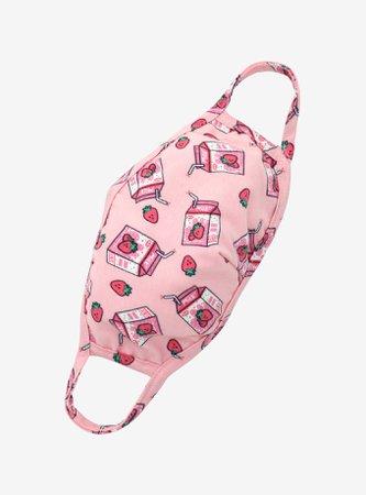 Strawberry Milk Fashion Face Mask