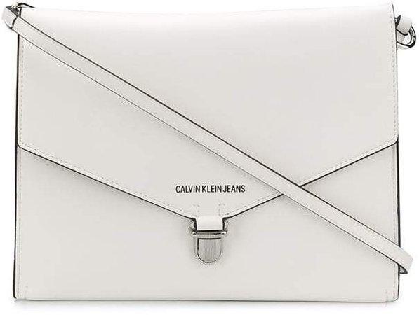 large logo print shoulder bag