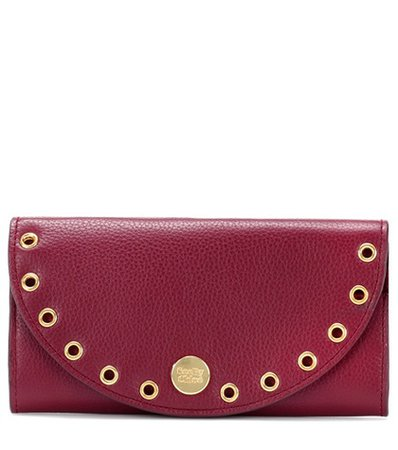 Kriss embellished leather wallet
