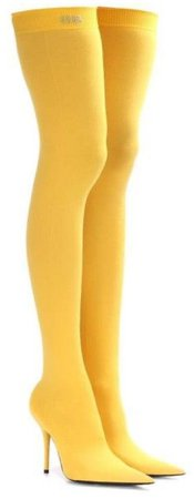 BALENCIAGA Yellow Knife Thigh Boots