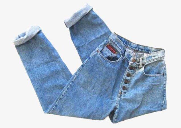 high waisted jeans folded