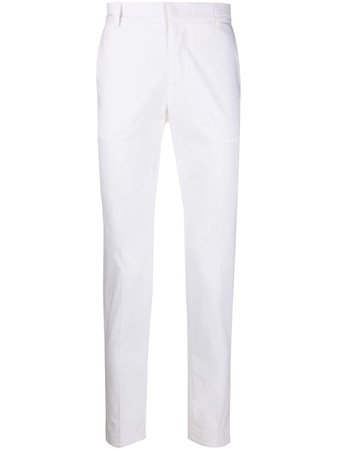 Daniele Alessandrini Tailored Slim Fit Trousers P2847R12374000 White   Farfetch