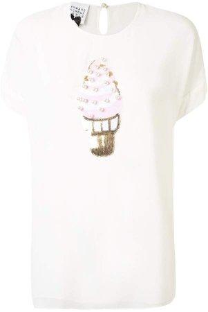 Edward Achour Paris Ice Cream embellished T-Shirt