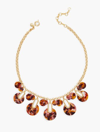 Marbled Discs Statement Necklace | Talbots