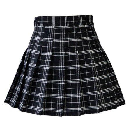 Women Skirts 2018 Summer Women Plaid Kawaii Skirt High Waist Black White Skirts Harajuku Mini Skirts Skirts  - AliExpress