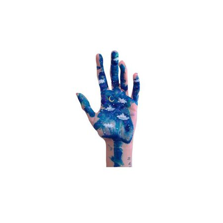 blue hand png filler