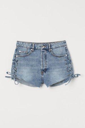 Denim Shorts High Waist - Denim blue - Ladies | H&M US
