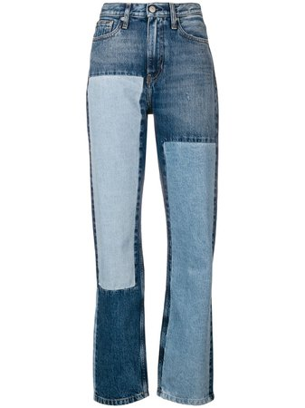 Calvin Klein Jeans Calça Jeans Reta Com Patchwork - Farfetch