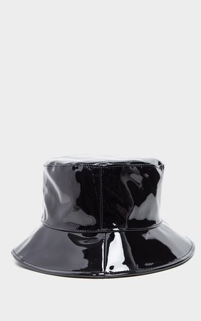 Black Vinyl Bucket Hat