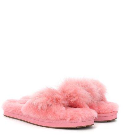 Mirabelle fur slipper