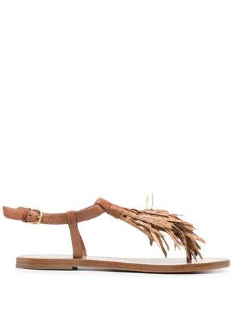 Sartore tassel-detail leather sandals - FARFETCH