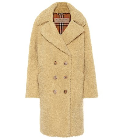 Wool-blend teddy coat