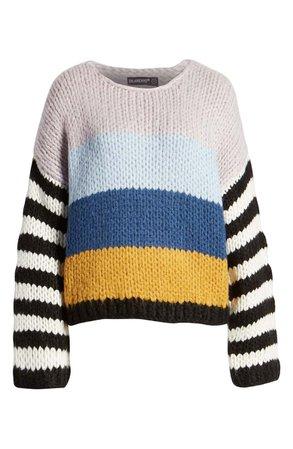 BLANKNYC Stripe Oversize Sweater | Nordstrom