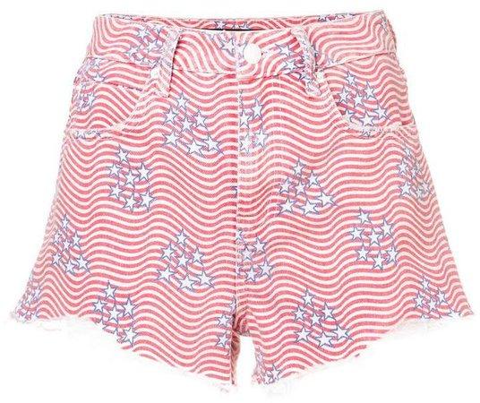 stars and stripes denim shorts
