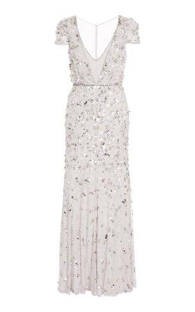 Arielle Paillette-Embellished Chiffon Gown by Jenny Packham | Moda Operandi